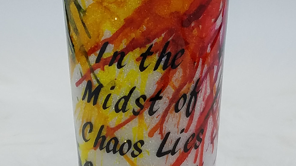 16 oz Abstract Art Double Walled Stainless Steel Tumbler