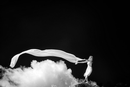 """To Freshen A Cloud   24"""" x 36""""   Archival Digital Infrared Photography"""