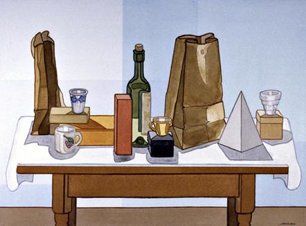 Wide Still Life   Watercolor