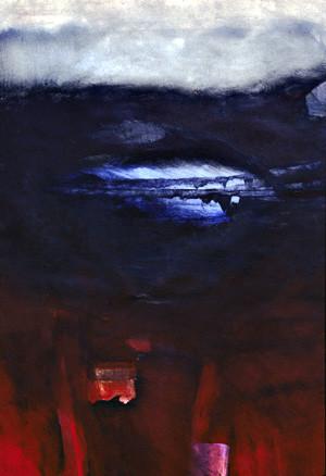 "Elegy | 26"" x 40"" | Oil on Paper"