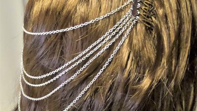 Hair Chain Accessory with Combs