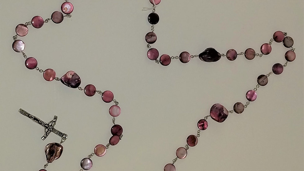 Pink Beaded Rosary