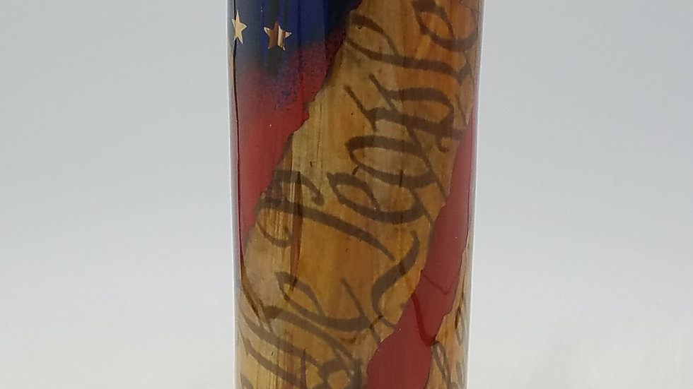 30 oz. Preamble Distressed Flag Double Walled Stainless Steel Tumbler