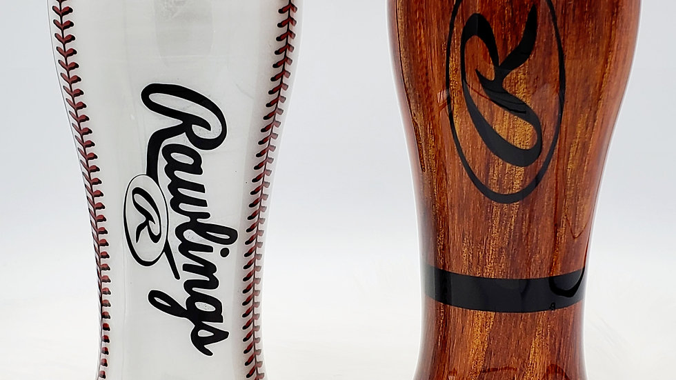 Set of 20 oz Rawlings Baseball & Bat Double walled stainless steel tumblers