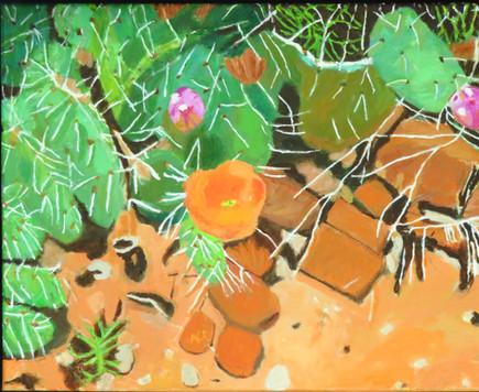 """Desert Bloom III   20"""" x 16""""   Acrylic on Canvas"""