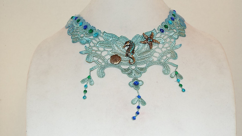 Under The Sea Lace Necklace