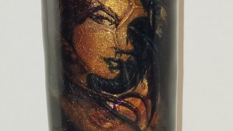 30 Oz. Dueling Dragons/Woman's Face Double Walled Stainless Steel Tumbler