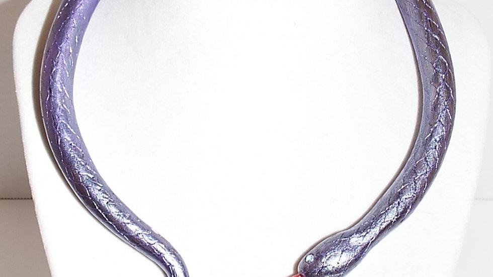 Baked Clay Snake Drape Necklace