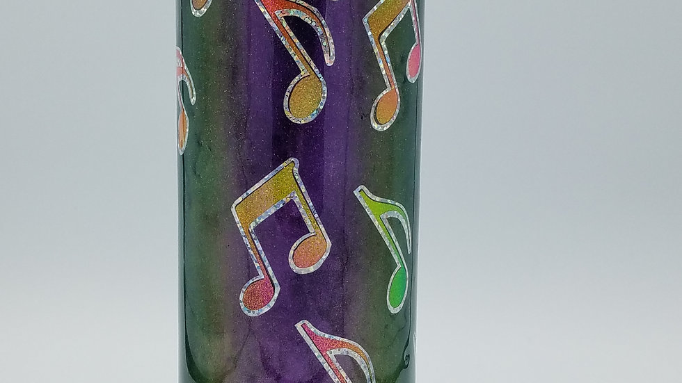30 oz. Slim Music Note Double Walled Stainless Steel Tumbler