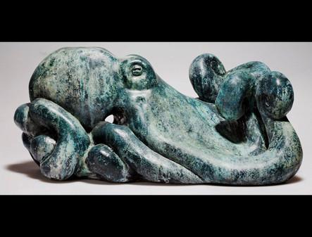 "Leviathan | 8"" x 10"" x 18"" | Cold Cast Bronze"
