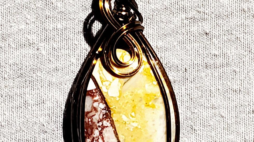 Chert Breccia Wrapped in Vintage Bronze