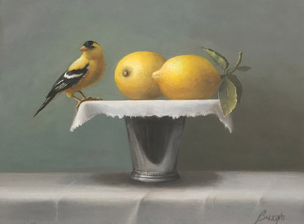 """Gold Finch and Lemons 