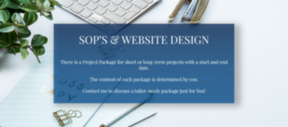 SOP's & Website Design.png