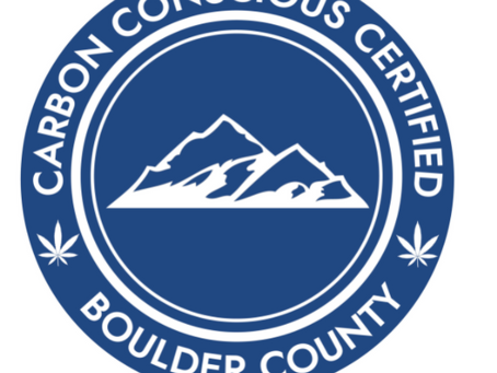 Congratulations to Boulder County for supporting the decarbonization of Cannabis