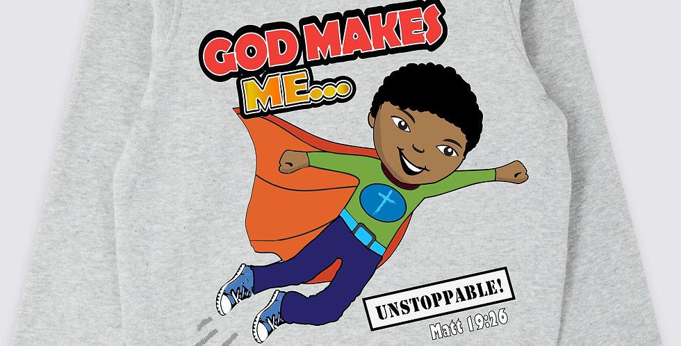"""God makes Me UNSTOPPABLE!"" Boys Sweatshirt"