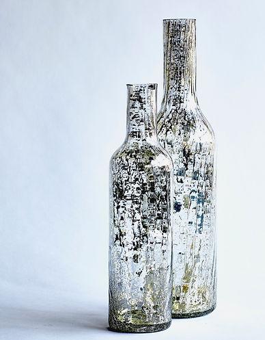 Tall Clear Glass Bottle Pair .jpg