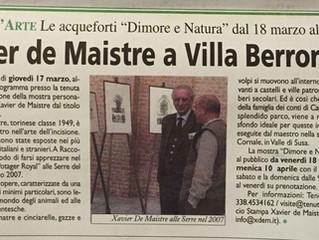 Xavier de Maistre a Villa Berroni