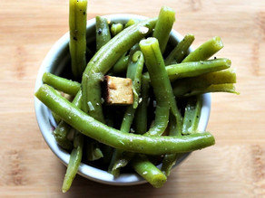 Herzhafter Grüner Bohnensalat mit Räuchertofu