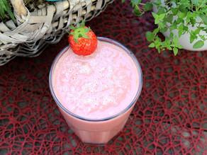 Fruchtiger Erdbeer-Milchshake