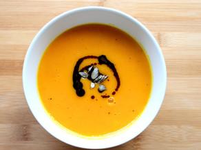 Wärmende und cremige Kürbissuppe