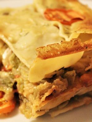 Vegane Wirsing-Lasagne