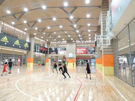 室內楓木地板籃球場實例