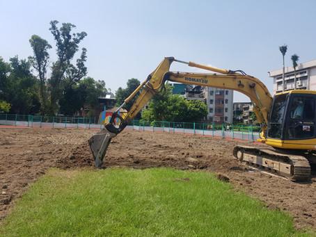 運動場草皮鋪設實例-台北市立龍山國中