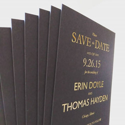 gold foil save the date cards