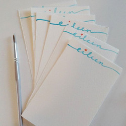 watercolor notes with a deckled edge
