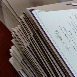 invitations are assembled by hand