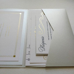 blush, gold foil, and platinum