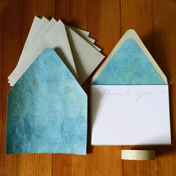 Thank You notes & handmade liner
