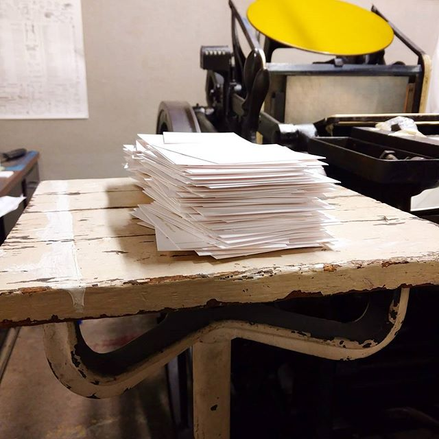 letterpress printed notes