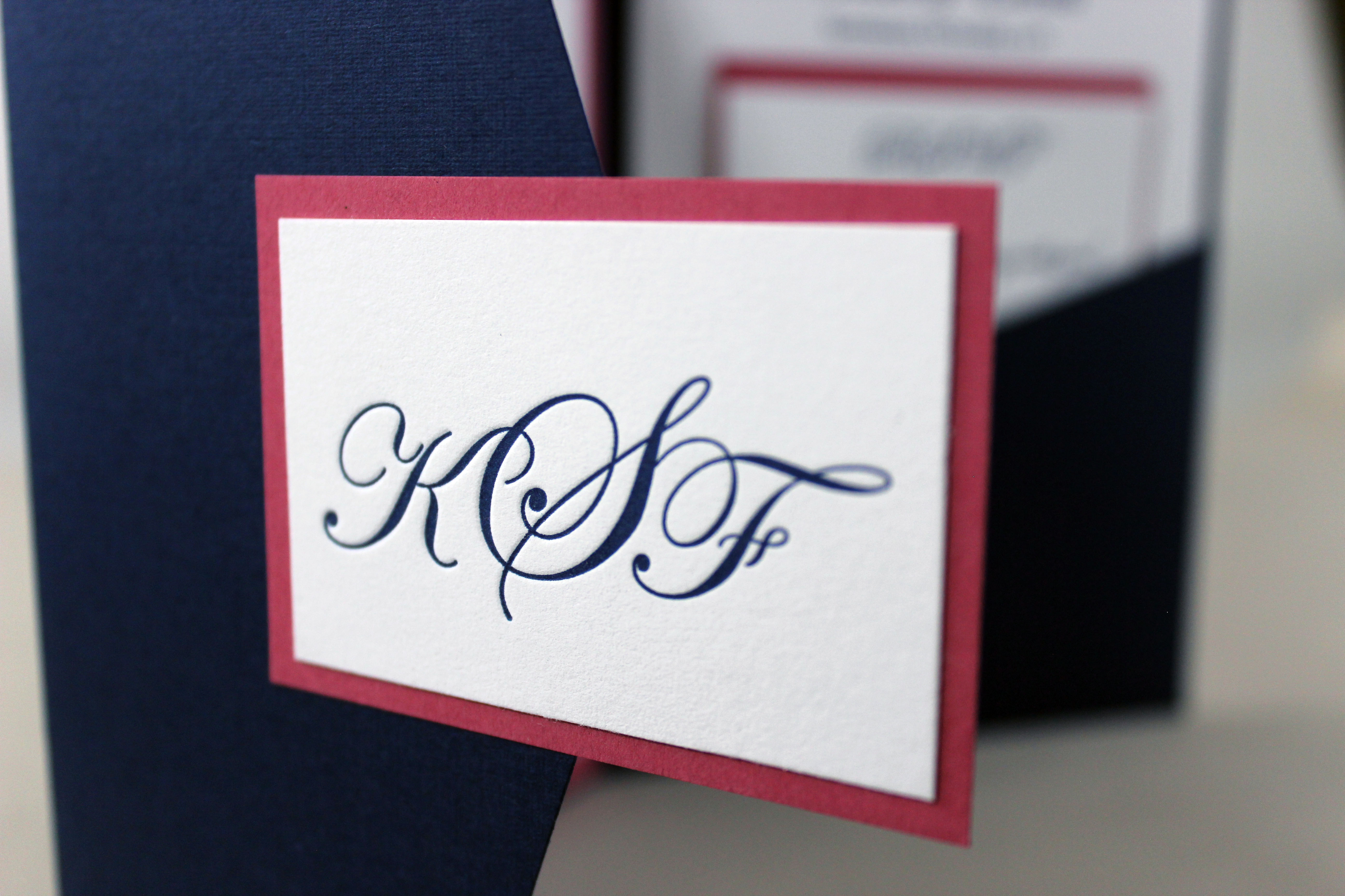 monogram seal for pocket invitations