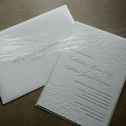 mint and gold with blind emboss