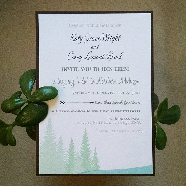 Michigan wedding invitation