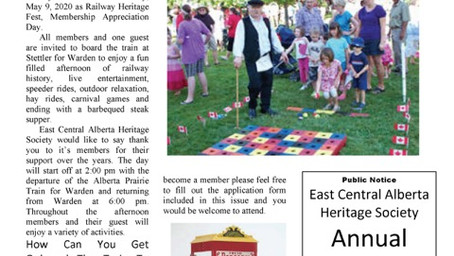 East Central Alberta Heritage Society March 2020 Newsletter
