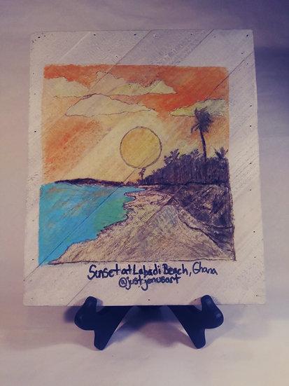 """""""Sunset at Labadi Beach, Ghana"""""""