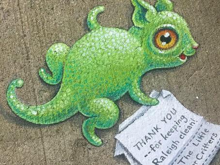 Raleigh ArtBeats Project - JustJenusArt creating mural Spring 2021!