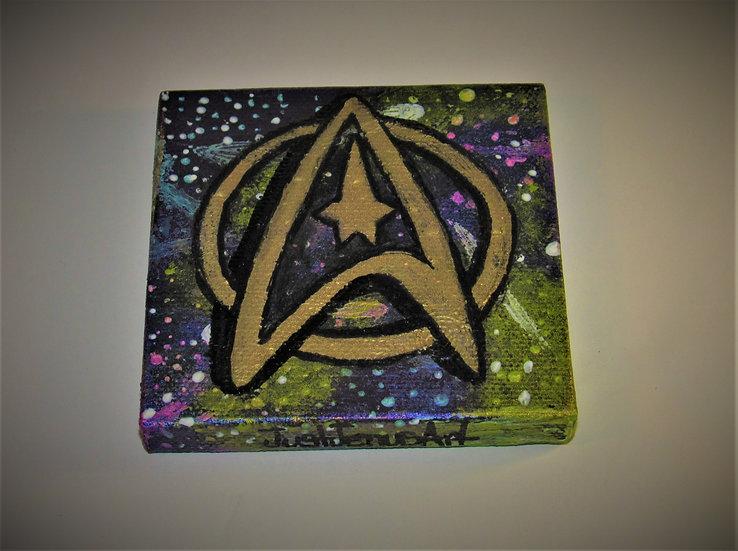 Starfleet Insignia Mini Abstract