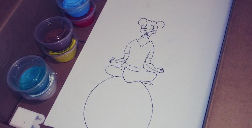 """Home Art Kit example """"Inner Peace"""""""