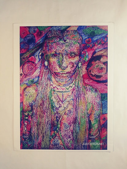 """Warrior of Color"" Digital Print"