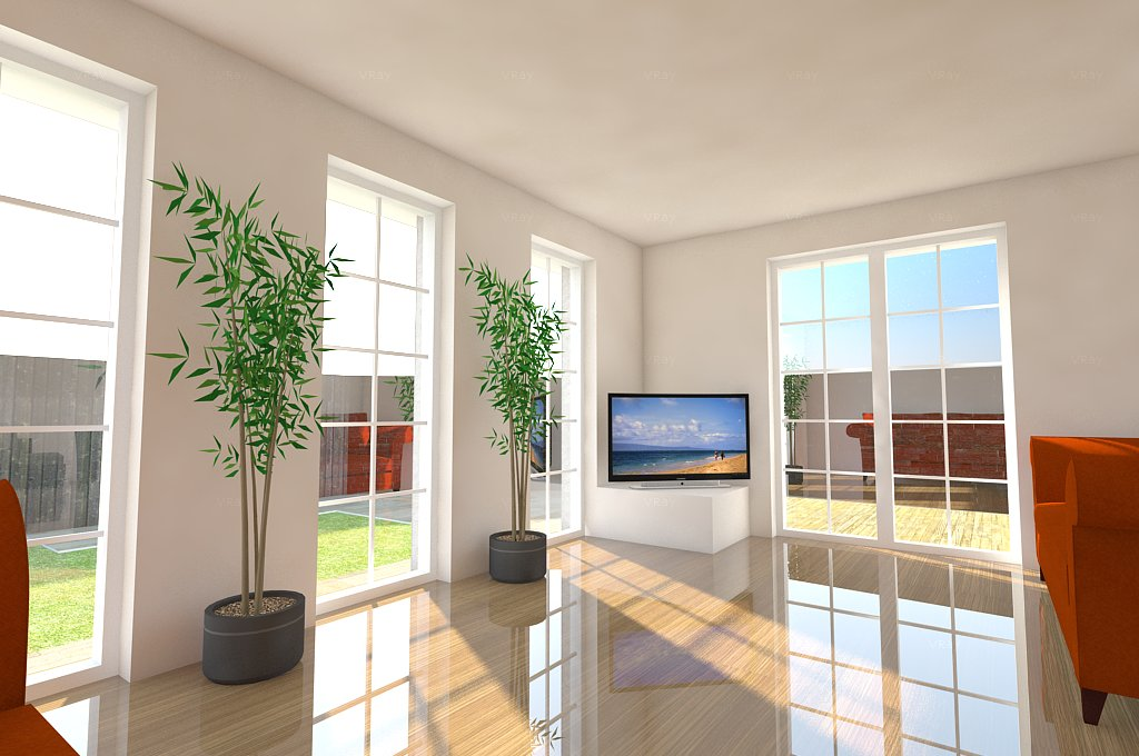 Interior rendering used for design development