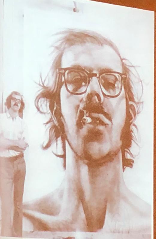 Chuck Close and his self portrait