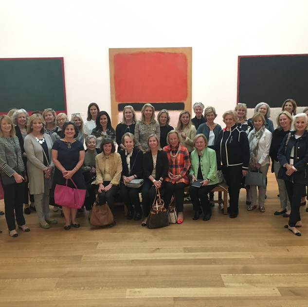 Our group in the Rothko Gallery