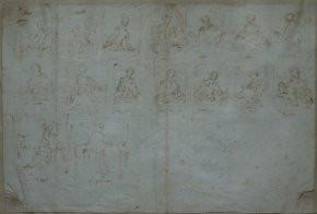 Drawings for Fragonard's Fantasy series