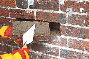 Brick repair and replacement of damaged bricks