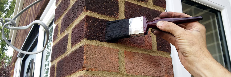 Brick tinting brushwork in manchester