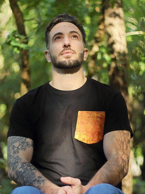 T-shirt High Vibes Noir - Poche feu
