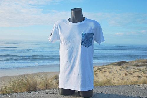 T-shirt Ocean Vibes blanc - Poche Bleue